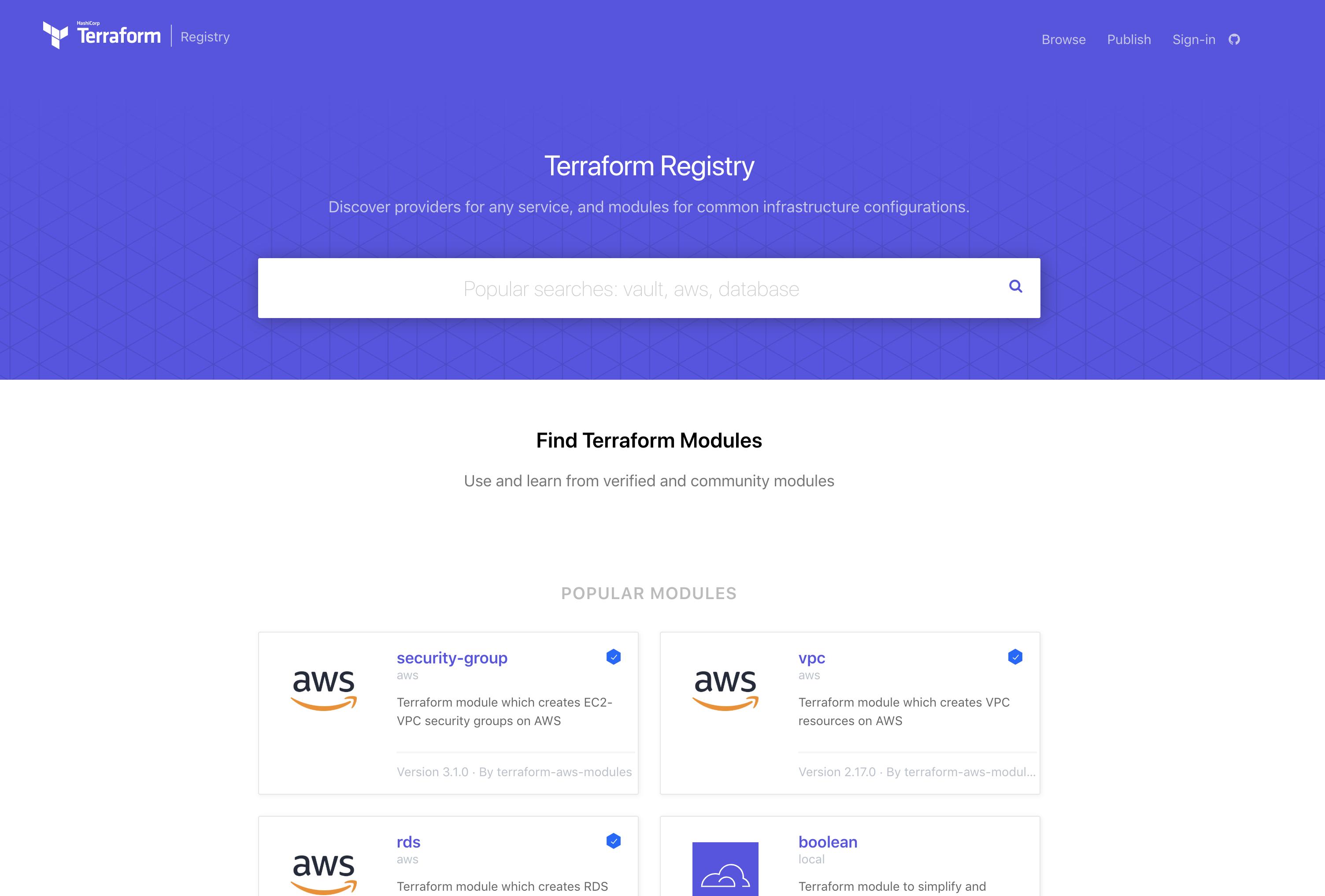 The Terraform Registry
