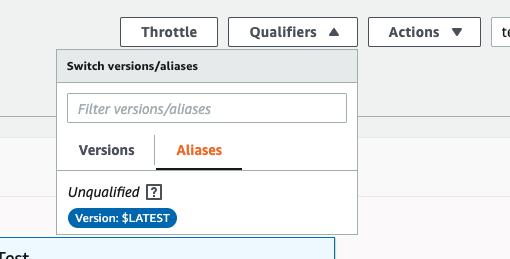 AWS Lambda Versions & Qualifiers