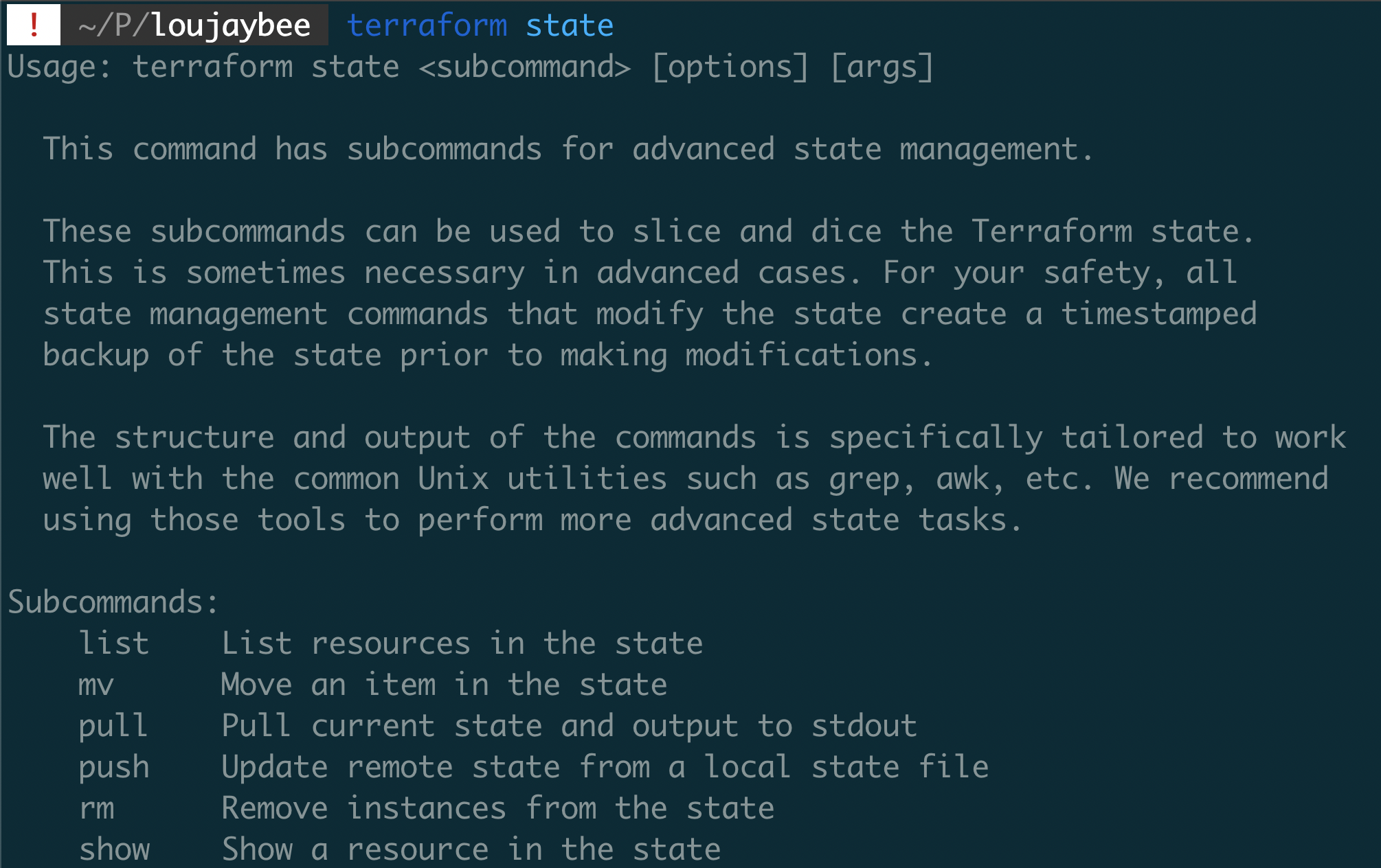 Terraform State Commands