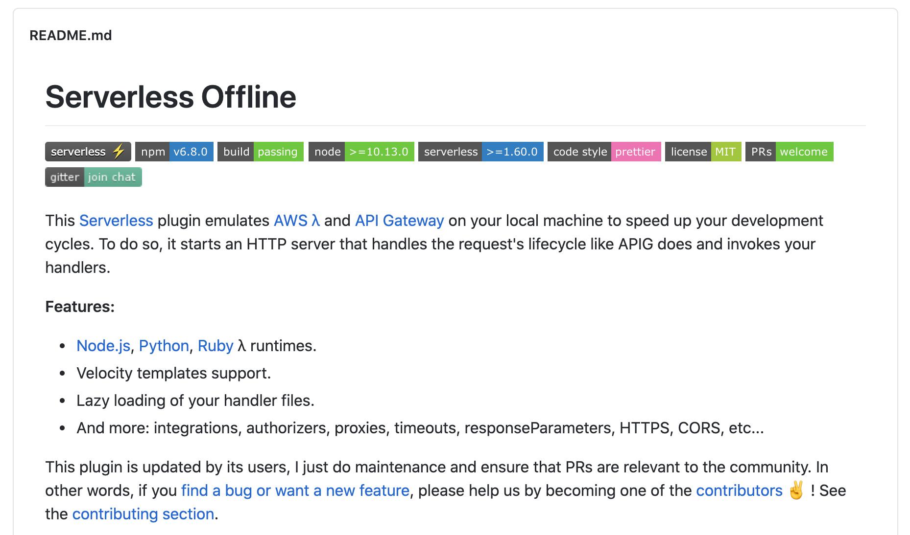 serverless-offline