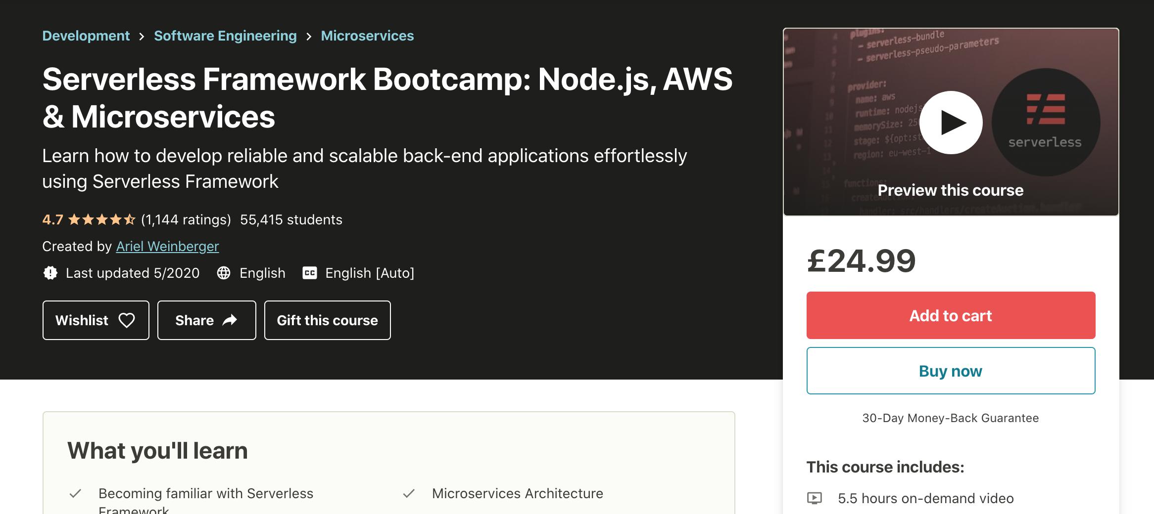 Serverless Framework Course