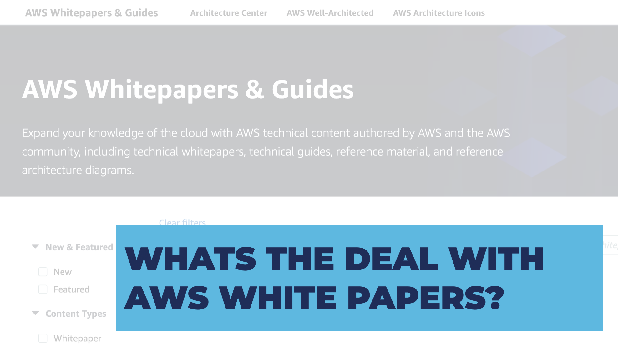 What's the deal with whitepapers?